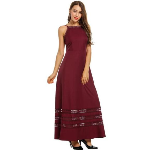 d5ad286e50b Plus Size Spaghetti Strap Full Length Maxi Dress